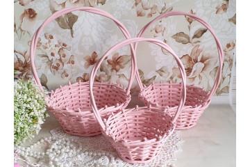 Корзины набор -розовые