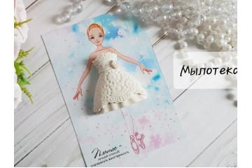 Платье для куколки белое