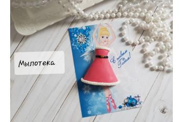 Платье для куколки новогоднее