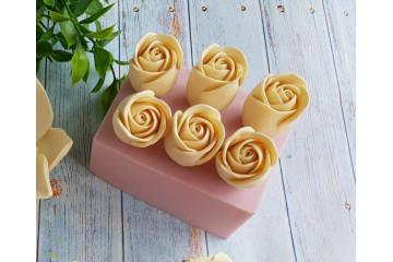 Бутон розы открытый 6шт на форме