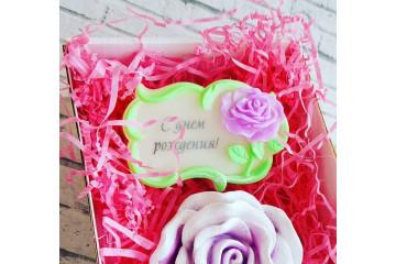 Рамка с розой под картинку