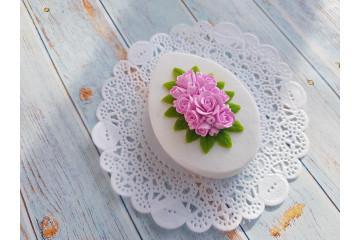 Яйцо пасхальное плоское с розами