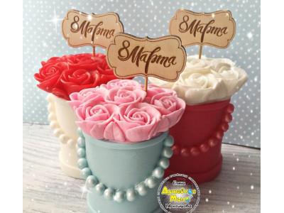 Набор коробка+розы 2 формы